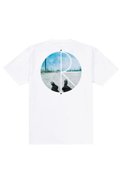 Polar Happy Sad Fill Logo Tee White - Polar Skate Co. - Aimé Moss Skateboarding Shop