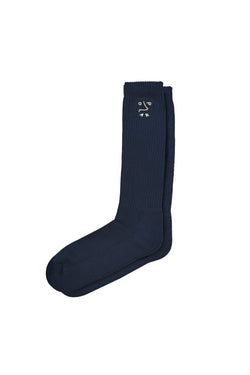 Polar Dane Doodle Socks Navy - Polar Skate Co. - Aimé Moss Skateboarding Shop