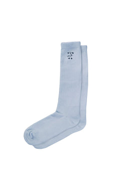 Polar Dane Doodle Socks Powder Blue - Polar Skate Co. - Aimé Moss Skateboarding Shop