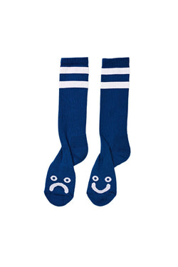 Polar Happy Sad Socks 80's Blue - Polar Skate Co. - Aimé Moss Skateboarding Shop