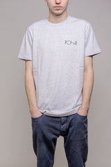Polar Fill Logo Tee Sports Grey - Polar Skate Co. - Aimé Moss Skateboarding Shop