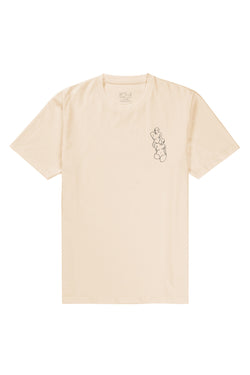 Polar Two Fine Women Tee Pastel Yellow