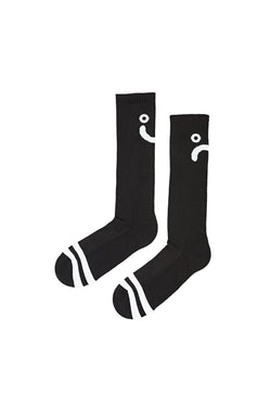 Polar Upside Down Happy Sad Socks Black White - Polar Skate Co. - Aimé Moss Skateboarding Shop