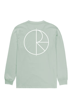 Polar Stroke Logo LS Tee Sea Foam Green - Polar Skate Co. - Aimé Moss Skateboarding Shop