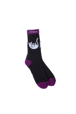 Ripndip - Falling For Nermal Socks Black Grape - Ripndip - Aimé Moss Skateboarding Shop