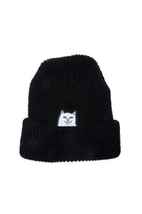 Ripndip Lord Nermal Ribbed Beanie Black - Ripndip - Aimé Moss Skateboarding Shop