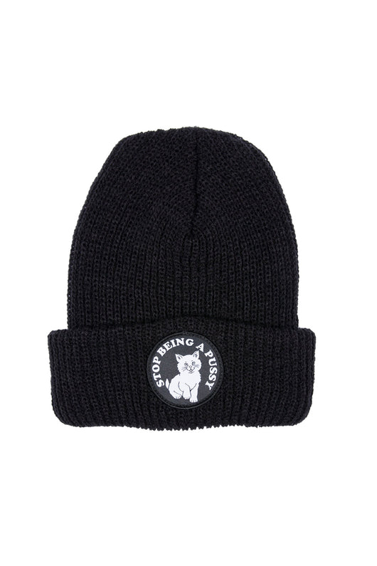 Ripndip Stop Being A Pussy Ribbed Beanie Black - Ripndip - Aimé Moss Skateboarding Shop