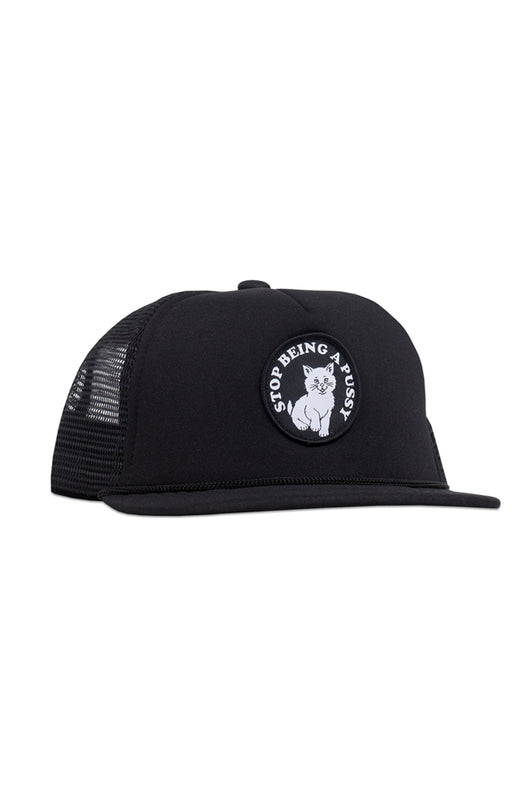 Ripndip Stop Being A Pussy Mesh Trucker Black - Ripndip - Aimé Moss Skateboarding Shop