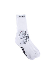 Ripndip Lord Nermal Socks White - Ripndip - Aimé Moss Skateboarding Shop