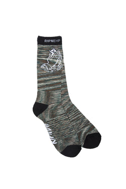 Ripndip Praying Hands Socks Camo - Ripndip - Aimé Moss Skateboarding Shop