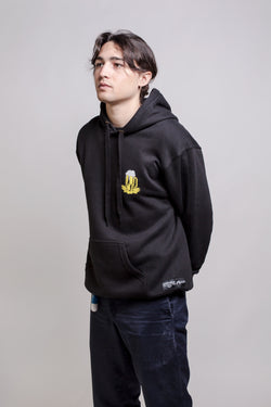 Seven Mad x Popcorn Hoodie Black - Seven Mad - Aimé Moss Skateboarding Shop
