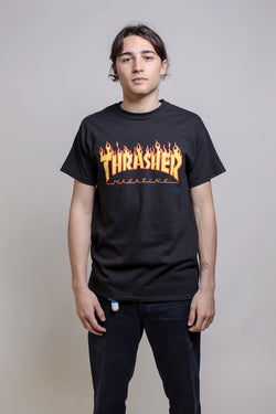 Thrasher Flame Logo Black - Thrasher - Aimé Moss Skateboarding Shop
