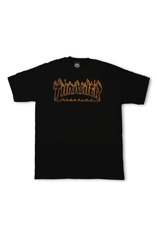 Thrasher Richter Tee Black - Thrasher - Aimé Moss Skateboarding Shop