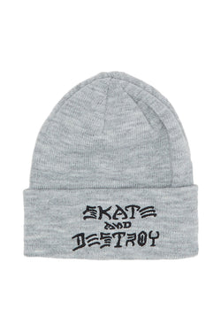 Thrasher Skate And Destroy Beanie Grey