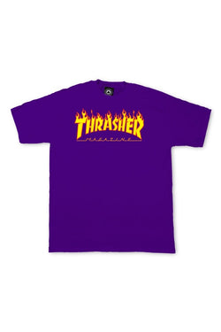 Thrasher Flame Tee Purple