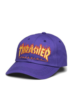 Thrasher Old Timer Purple Flame Cap
