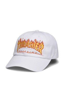 Thrasher Old Timer White Flame Cap
