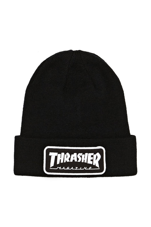 Thrasher Patch Beanie Black - Thrasher - Aimé Moss Skateboarding Shop