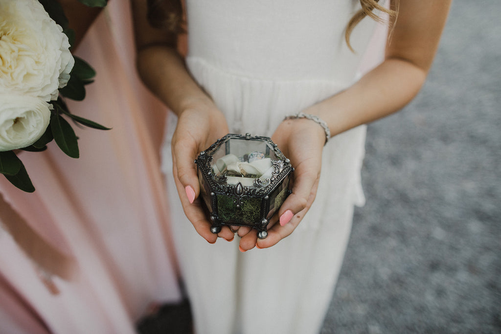 rustic eclectic wedding ring box