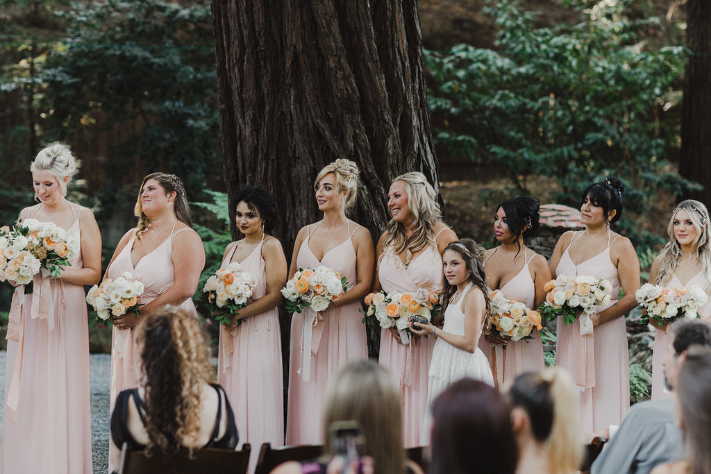 boho rustic bridesmaids and flower girl