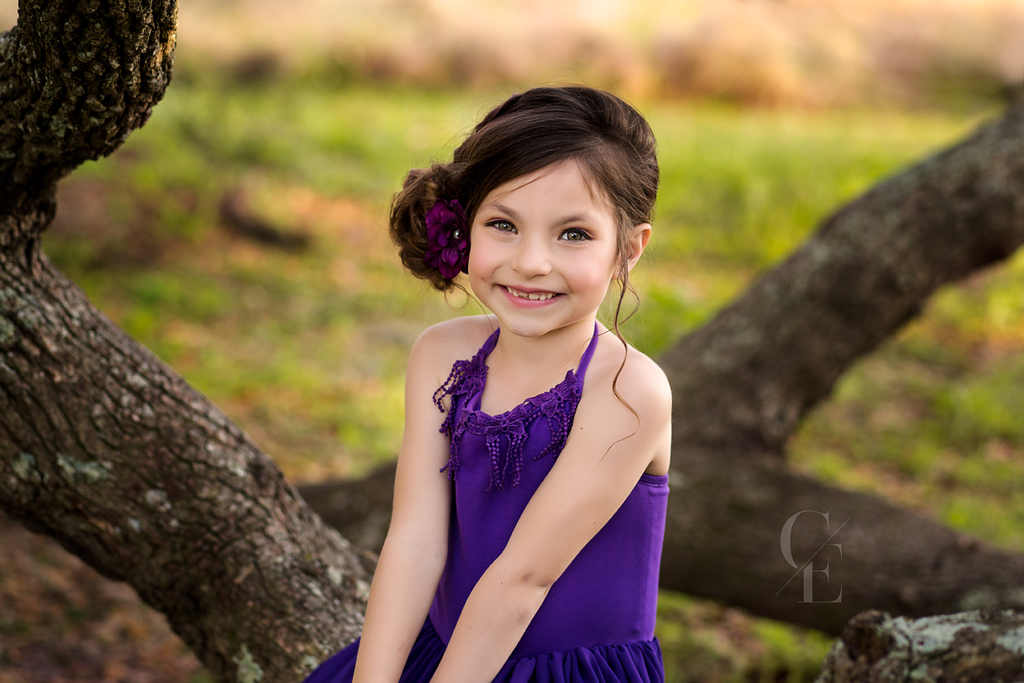 purple bohemian lace maxi dress flower girl dress - Belle & Kai