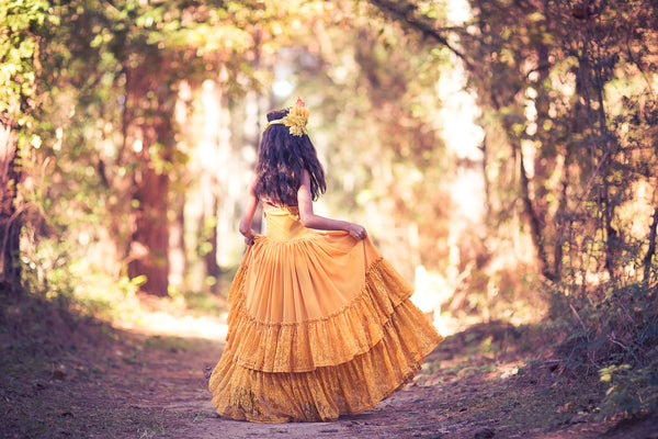 Willow Mustard Yellow Maxi Dress Twirling