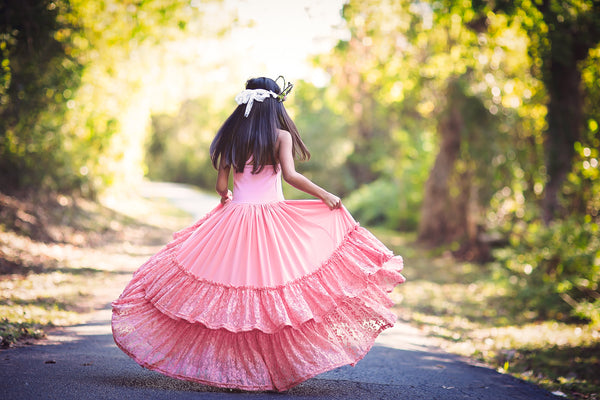 Willow Pink Boho Dress Twirling
