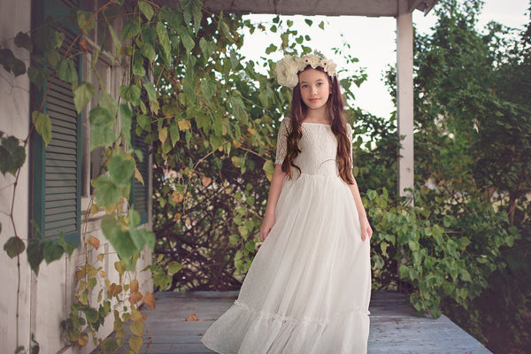 lace flower girl dresses