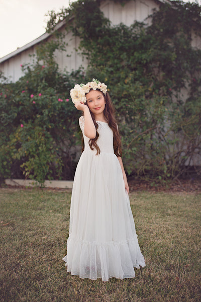 bohemian lace flower girl dresses