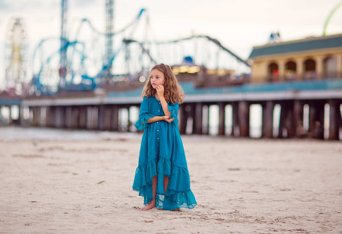 bohemian beach high low flower girl dress