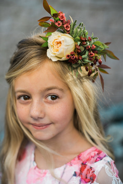 country boho flower girl photoshoot - Belle & Kai