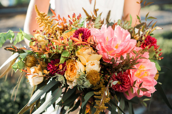 boho county wedding bouquet