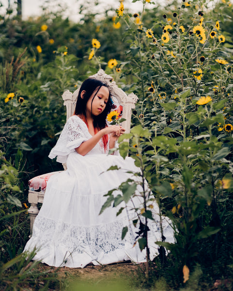 vintage lace flower girl dresses