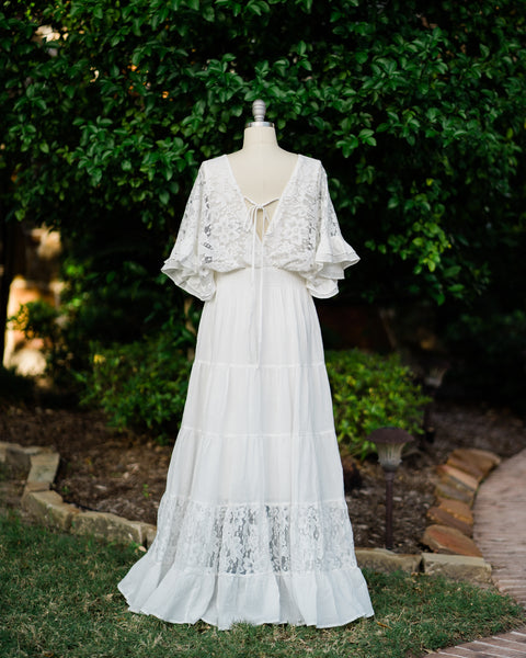 boho chic beach wedding dress