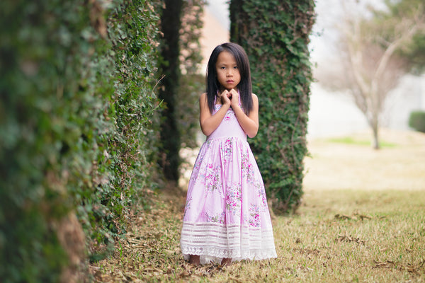 pink floral Easter dress for girls toddlers - Belle & Kai