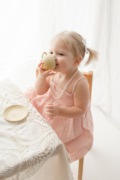 sister tea party backlighting photography photoshoot ideas - Belle & Kai