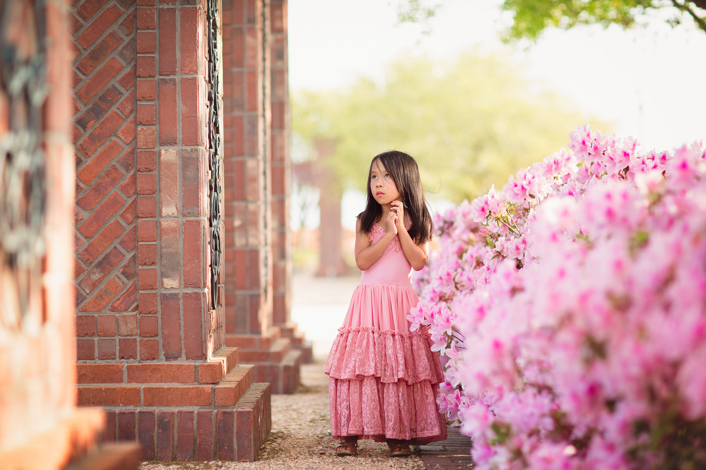 boho vintage lace flower girl maxi dresses
