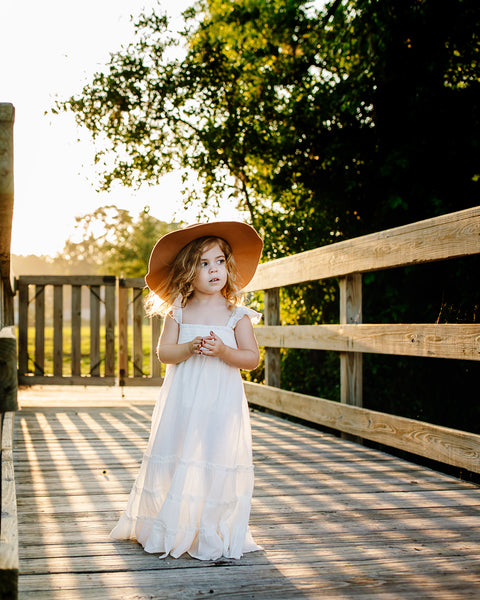 ivory flower girl maxi dress