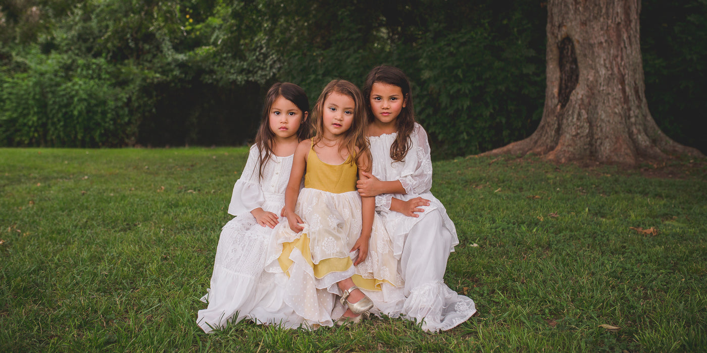 boho rustic flower girl junior bridesmaid dresses