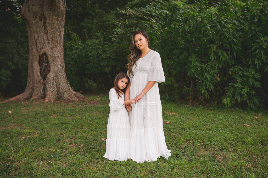 boho mommy and me lace maxi dresses