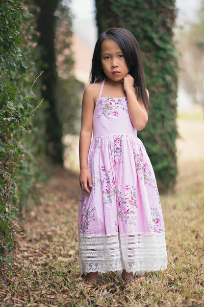 floral tea party cotton dress for girls toddlers - Belle & Kai