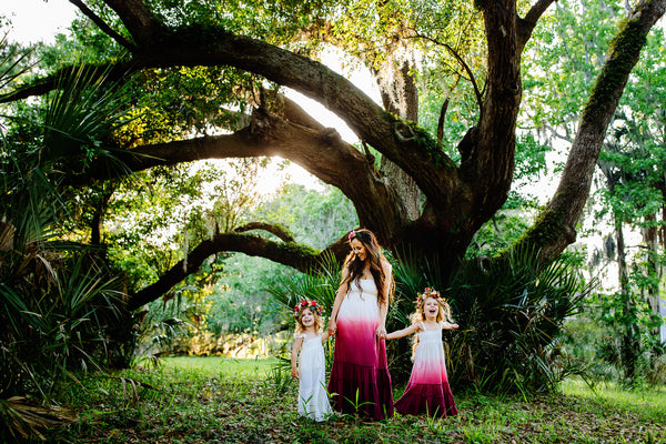 boho chic mommy and me maxi dresses