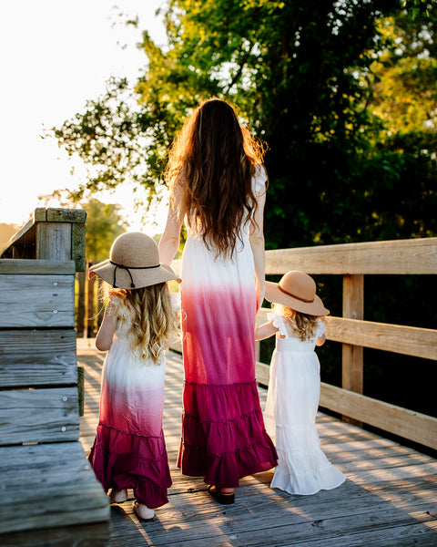 bohemian mother daughter maxi dresses