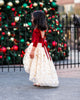 little girl gold holiday party dress