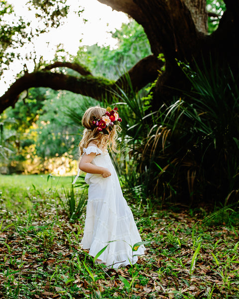 Ohana Maxi Dress in Ivory (Child)