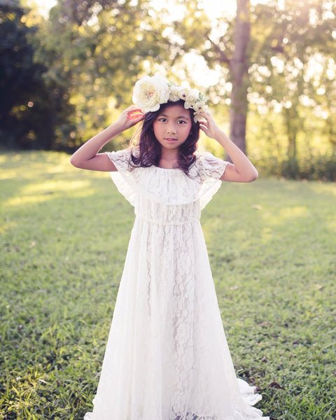 boho first communion flower girl dress - Belle and Kai