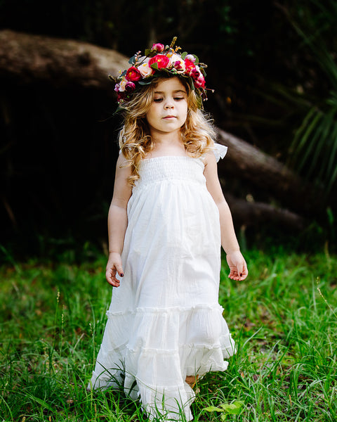 boho beach flower girl maxi dress