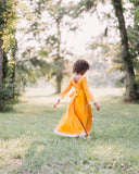boho fall girls twirl dress flower girl high low dress