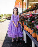 country rustic flower girl dresses vintage lavender ruffle dress
