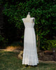 ivory boho cotton women's maxi dress